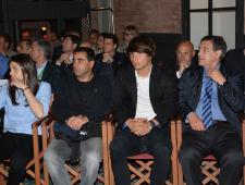 Andrea Pereira, Gallego - entrenador del juvenil A, Lluís González i Rafa Marañon