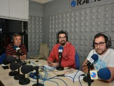 Ramón Luis amb Daniel Pérez i Xavier Arabia directors del programa